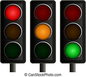 Set de tres semáforos