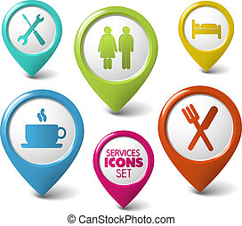 Set de vector 3D para los servicios