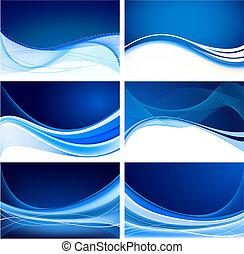 Set de vector de fondo azul abstracto