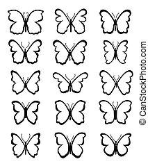 Set de vector mariposa