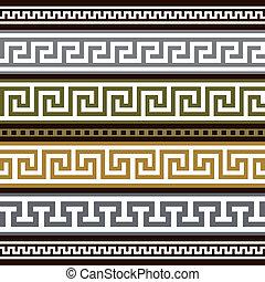Set de vectores bordes griegos