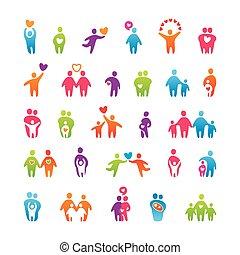Set-icons-gente-amor-familia