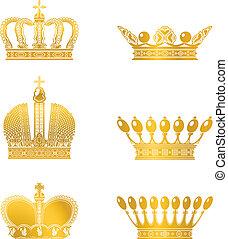 Set of coronas, vector