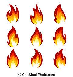Set of fire