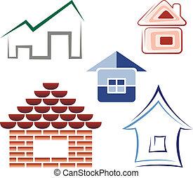 Set of house icons/logos