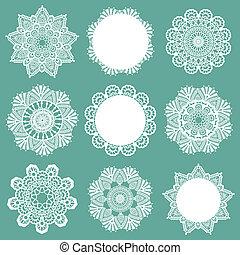 Set of Lace Napkins - para diseño y álbum de recortes - en vector