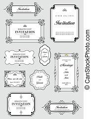 Set of ornate vectores y o