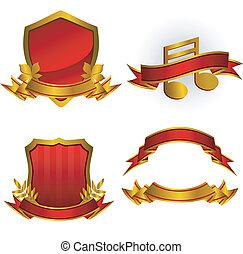 Set of vector emblems y estandartes