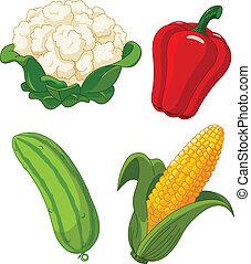Set of vegetal2