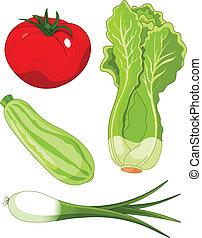 Set of vegetal5