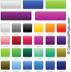 Set of Web Square botón