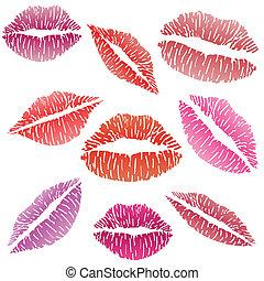 sexy, beso lápiz labios