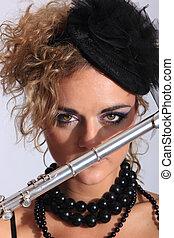 sexy, flautista