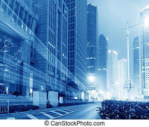 Shangai lujiazui financia la zona comercial de la ciudad moderna