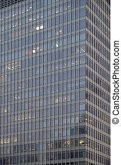 shanghai, moderno, edificios de oficinas, china, primer plano