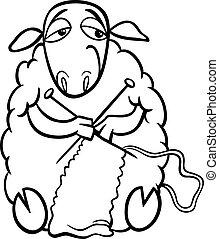 sheep, colorido, tejido de punto, página