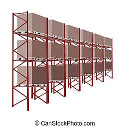 Shelves fabrica almacenes en un almacén con mercancía