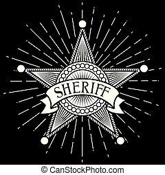 Sheriff insignia estrella