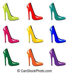 shoes, coloreado