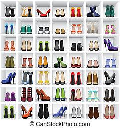 shoes, estantes