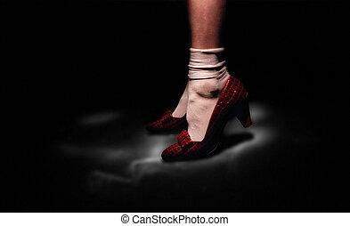 shoes, rojo