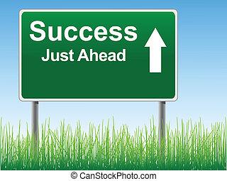 Signo de éxito.