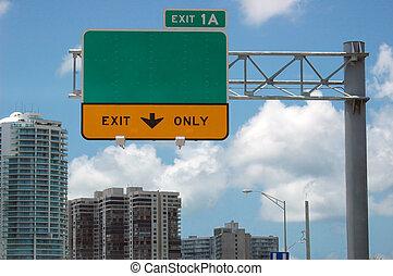 Signo de autopista