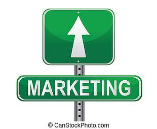Signo de estrategia de mercado