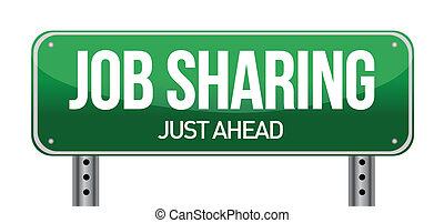 Signo de intercambio de trabajo