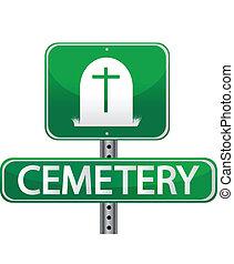 Signo de la calle Cementerio