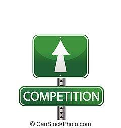 Signo de la calle de la competencia