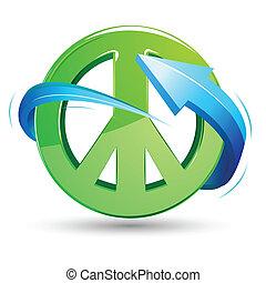 signo de paz con flecha