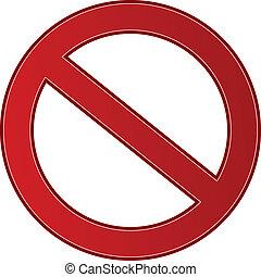 Signo de prohibición