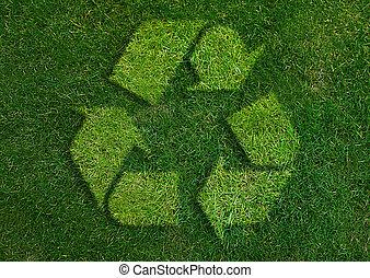 Signo de reciclado verde