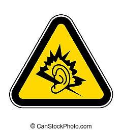 Signo de sonido aislado en el fondo blanco, ilustración del vector EPS.10