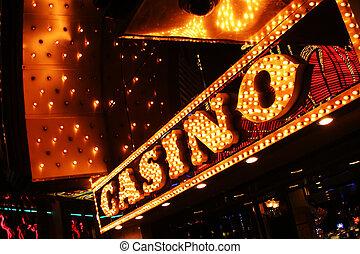 Signo del casino Neon. Las Vegas, nevada, USA.