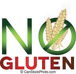 Signo libre de gluten, dieta de salud