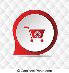 Signo médico internacional de icono geométrico vector imagen de fondo