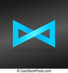Signo sin fin azul