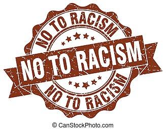 signo., stamp., sello, racismo, no