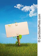 Signo verde - comunicación ecológica