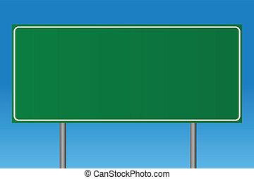 Signo verde en blanco