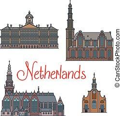 Signos de viaje holandeses, estilo de línea delgada