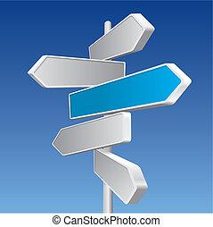 signos direccionales, (vector)
