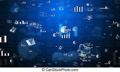 Signos financieros gráficos gráficos Gran concepto comercial
