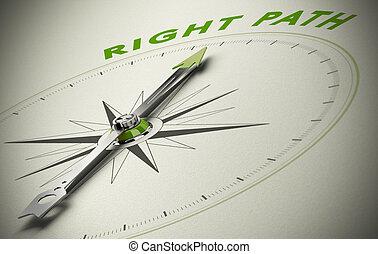Siguiendo el camino correcto