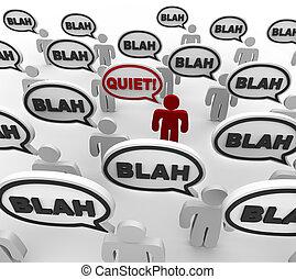 Silencio, mala comunicación