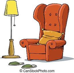 sillón, cómodo