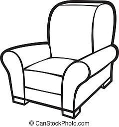 sillón, tina, chair), (leather