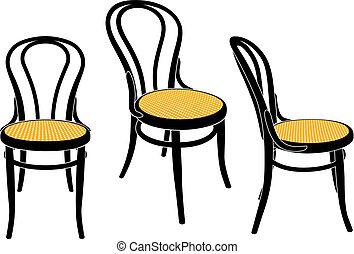 silla, café, viena